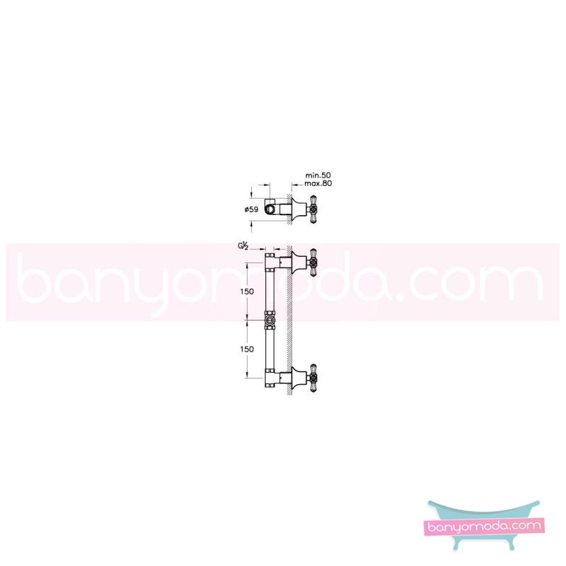 Artema Juno Swarovski Ankastre Duş Bataryası - A41670 90 derece açma kapama görkemli bir banyo ortamı oluşturmak icin yaratıldı