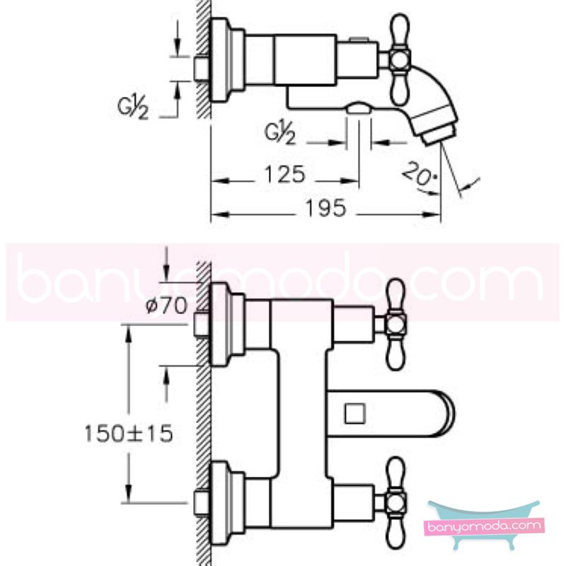 Artema Juno Classic Banyo Bataryası  - A41686 90 derece açma kapama klasik anlayışta bir banyo ortamı oluşturmak icin yaratıldı