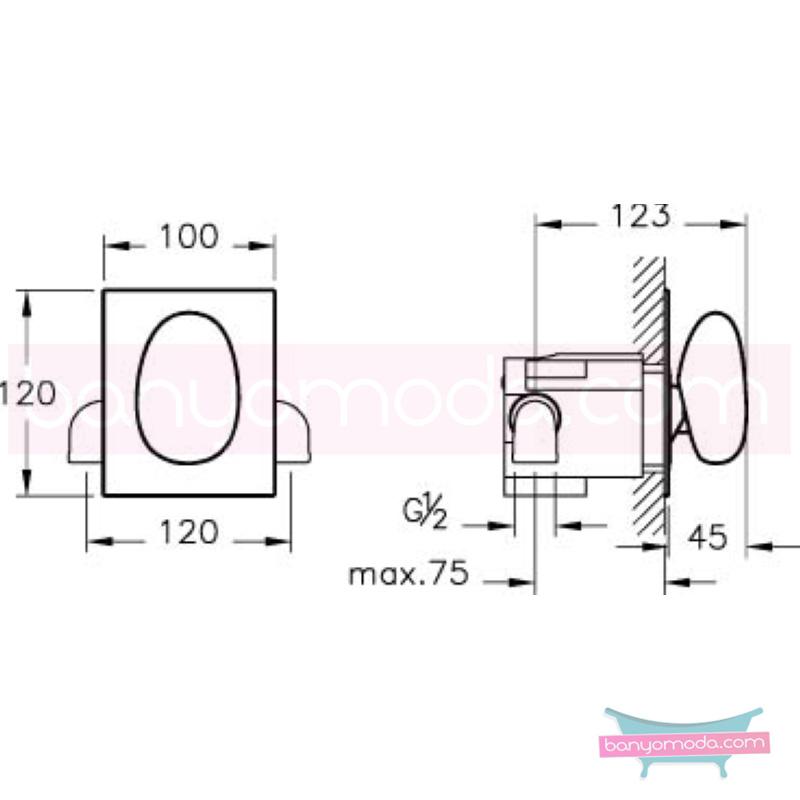 Artema İstanbul Ankastre Duş Bataryası - A41803 sıradışı dizaynı ileri teknolajisiyle ünlü tasarımcı Ross Lovegrove özel serisinden