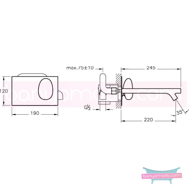 Artema İstanbul Ankastre Lavabo Bataryası - A41804 sıradışı dizaynı ileri teknolajisiyle ünlü tasarımcı Ross Lovegrove özel serisinden