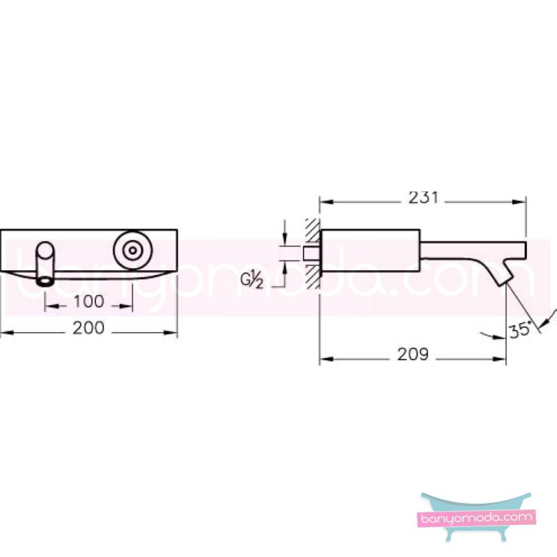 Artema İstanbul Joystick Lavabo Bataryası (Duvardan), Altın - A4181723 joystick kartuş sıradışı dizaynı ileri teknolajisiyle ünlü tasarımcı Ross Lovegrove özel serisinden