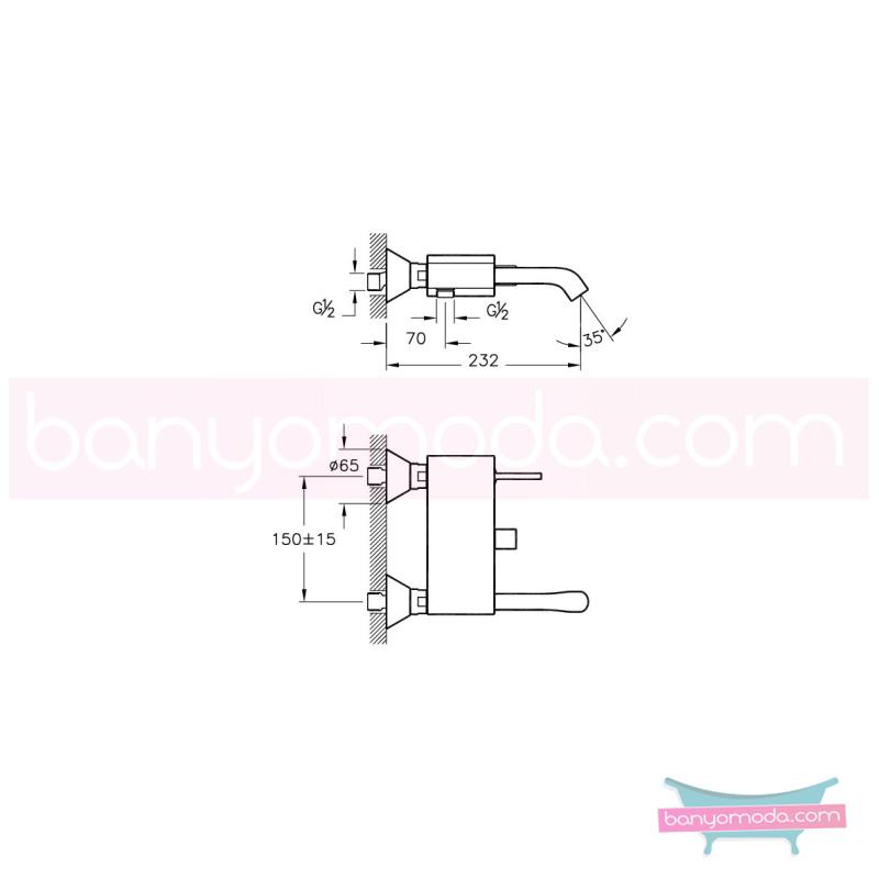 Artema Mod Joystick Banyo Bataryası - A41836 joystick kartuş modern tasarımı zarafetle bütünleyen Ross Lovegrove un çok özel koleksiyonudan