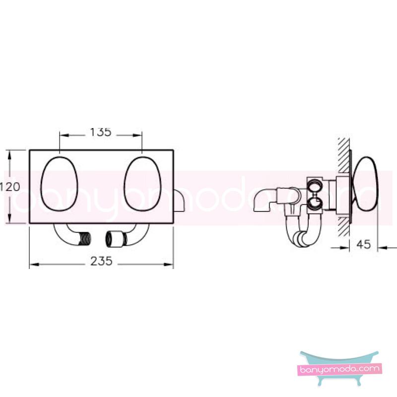 Artema İstanbul Ankastre Duş Bataryası (3 Yollu Yönlendiricili) - A41841 su ve enerji tasarruflu sıradışı dizaynı ileri teknolajisiyle ünlü tasarımcı Ross Lovegrove özel serisinden