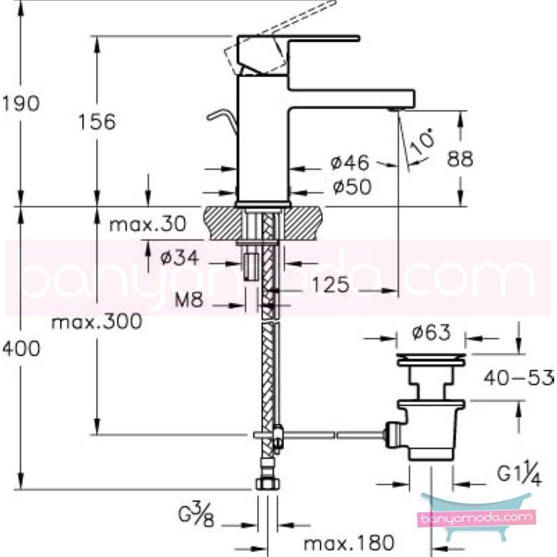Artema Flo S Lavabo Bataryası(Sifon Kumandalı) - A41941 ısı ve debi ayarlı su ve enerji tasarruflu bedensel engellilere ve doktorlara özel geliştirdiğimiş kolay kullanımlı armatür