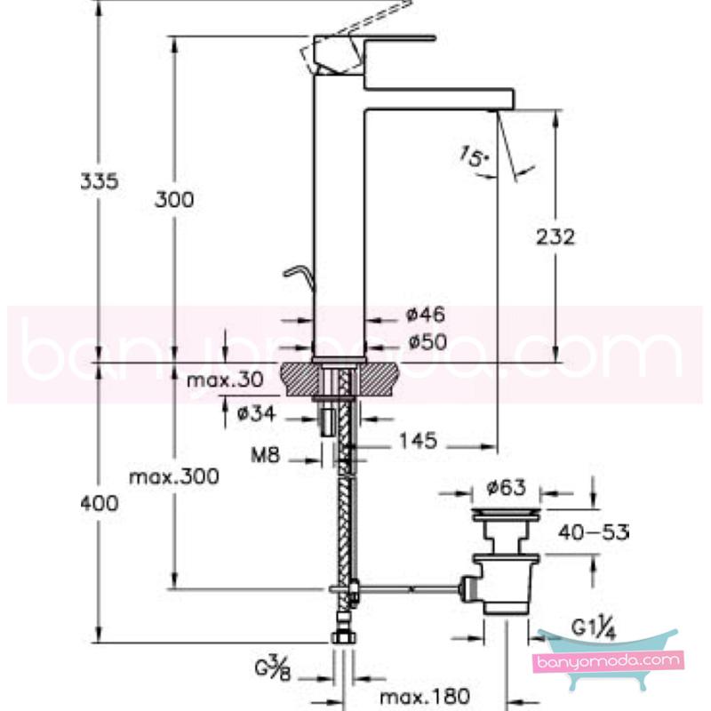 Artema Flo S Lavabo Bataryası(Yüksek-Sifon Kumandalı) - A41942 ısı ve debi ayarlı su ve enerji tasarruflu bedensel engellilere ve doktorlara özel geliştirdiğimiş kolay kullanımlı armatür