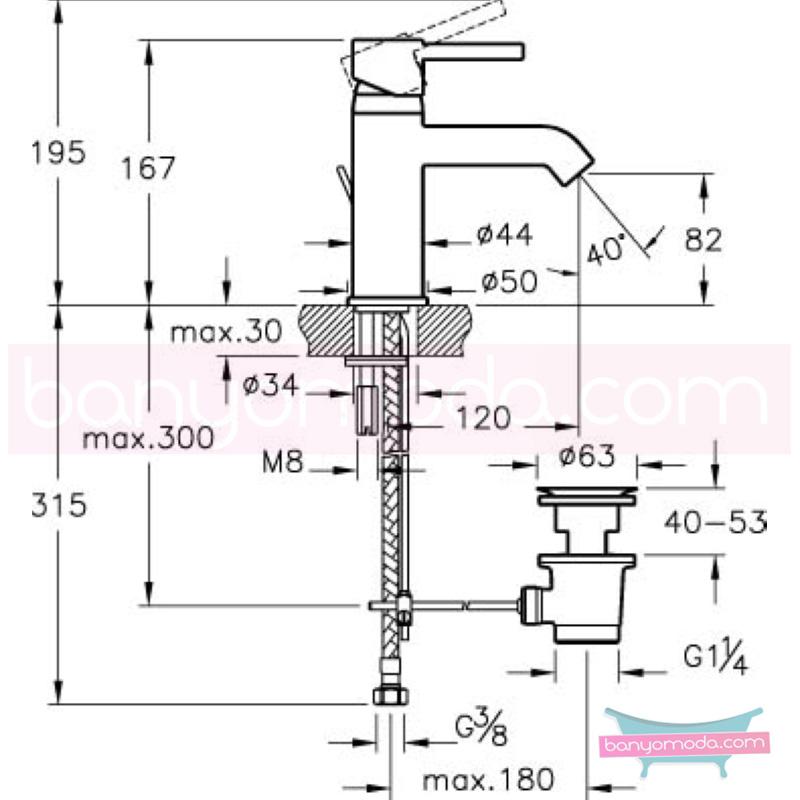 Artema Minimax S Lavabo Bataryası (Sifon Kumandalı) - A41986 ısı ve debi ayarlı su ve enerji tasarruflu minimalist tasarımlı uygun fiyatlı armatür