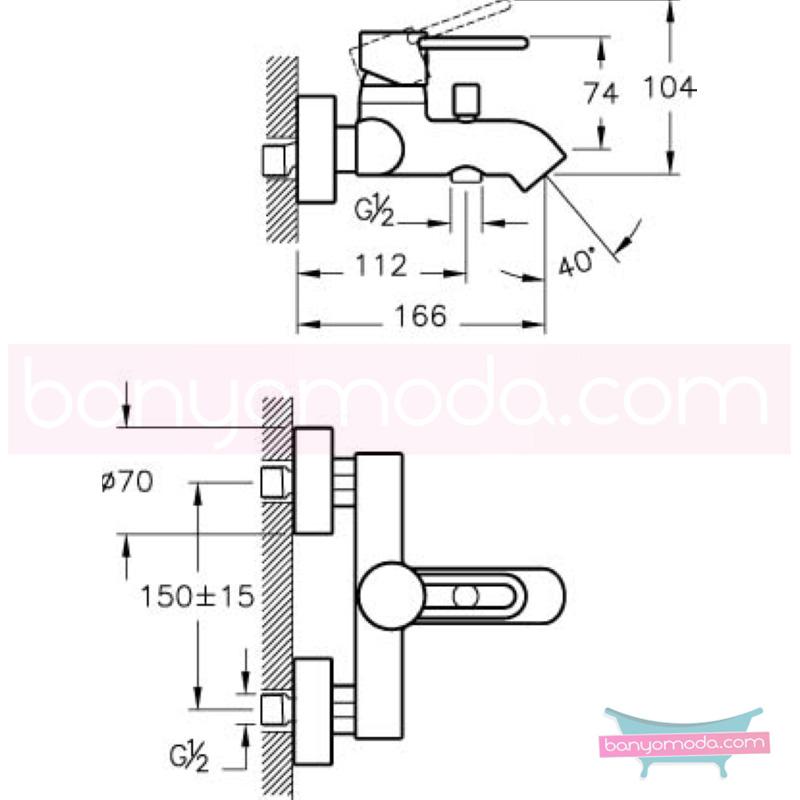 Artema C-Line Banyo Bataryası - A41995 ısı ve debi ayarlı su ve enerji tasarruflu bataryayı özel kılan incelikli detaylarıyla tasarrufu ön plana çıkarır