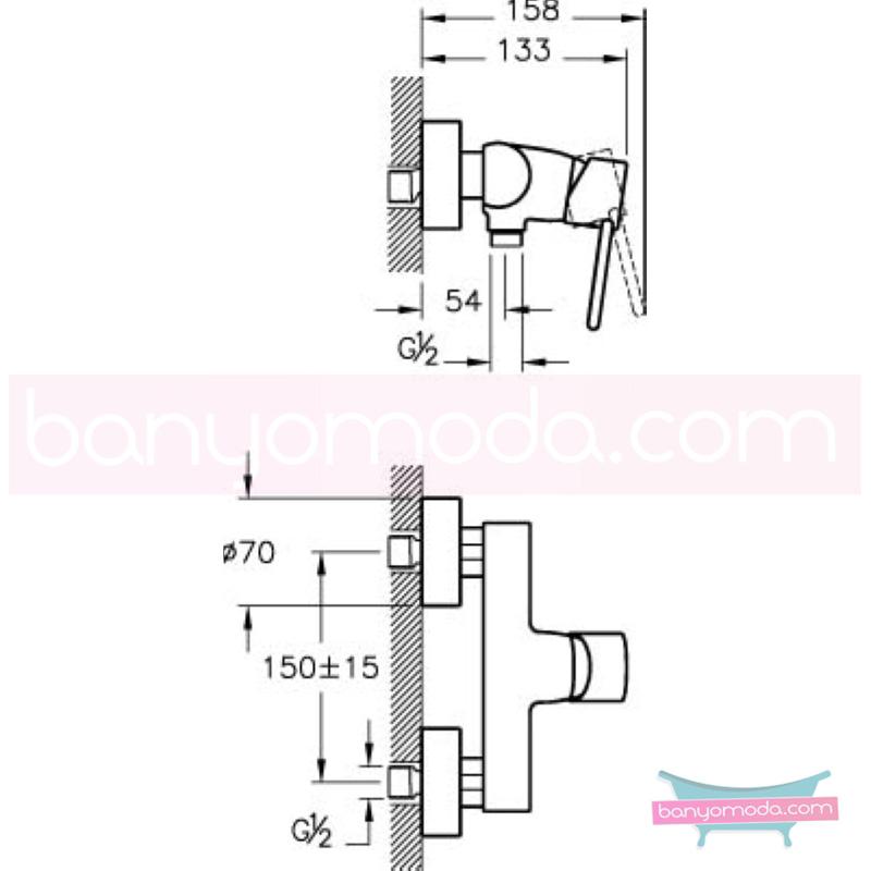 Artema C-Line Duş Bataryası - A41997 ısı ve debi ayarlı su ve enerji tasarruflu bataryayı özel kılan incelikli detaylarıyla tasarrufu ön plana çıkarır