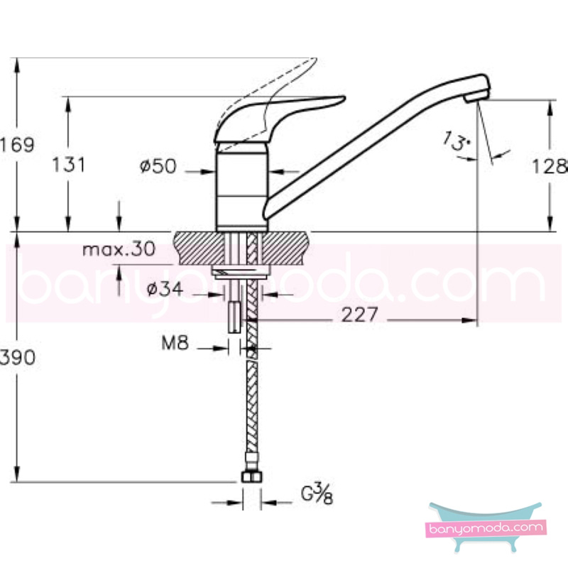 Artema Ares Eviye Bataryası - A42006 ısı ve debi ayarlı su ve enerji tasarruflu zarafet ve güç arasındaki dengeyi ergonomiyle bütünleştirmiş ekonomik armatür
