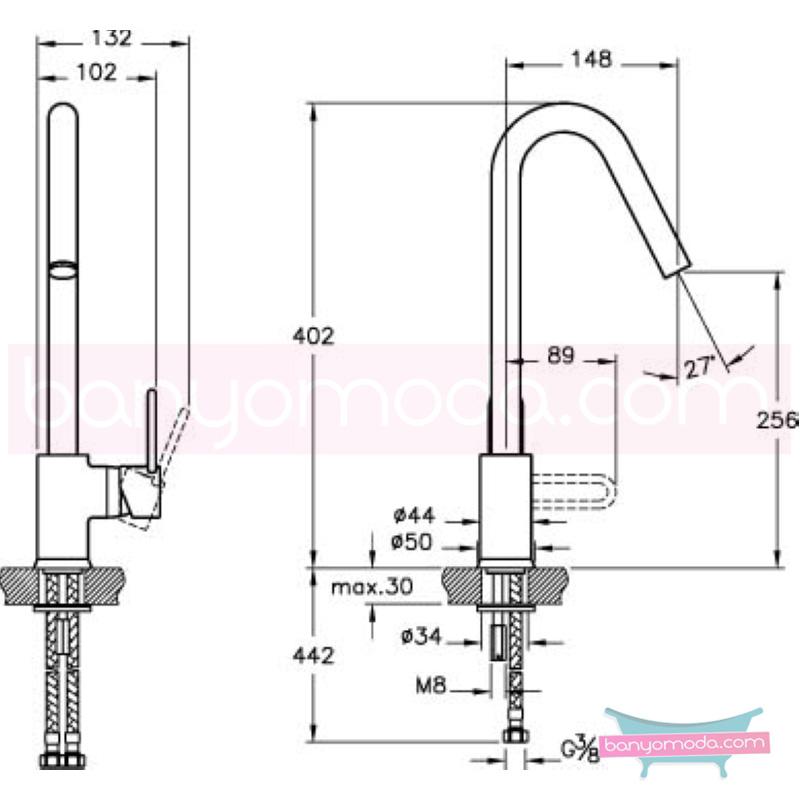 Artema C-Line Eviye Bataryası - A42092 ısı ve debi ayarlı su ve enerji tasarruflu bataryayı özel kılan incelikli detaylarıyla tasarrufu ön plana çıkarır