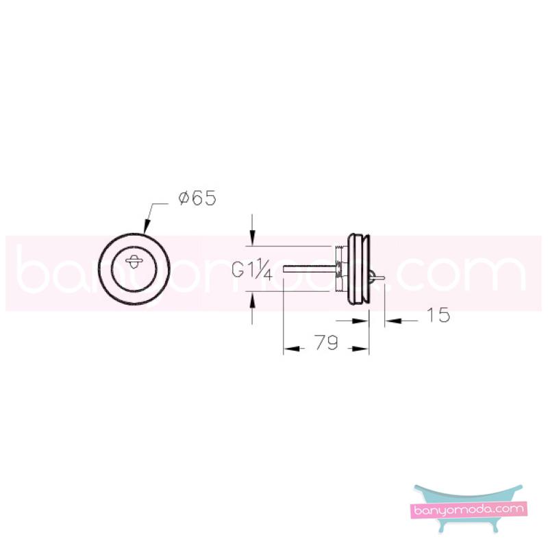 Artema Lavabo Yuvarlak Süzgeci (Sabit) - A45137 armatür ve batarya tamamlayıcı üründür