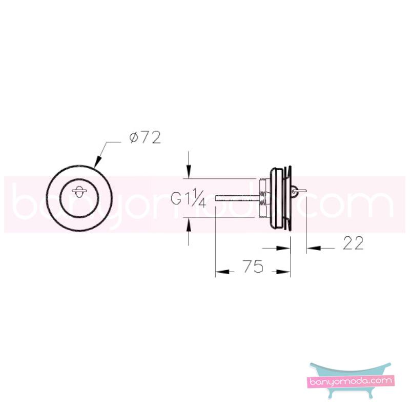 Artema Eviye Yuvarlak Süzgeci (Sabit) - A45138 armatür ve batarya tamamlayıcı üründür