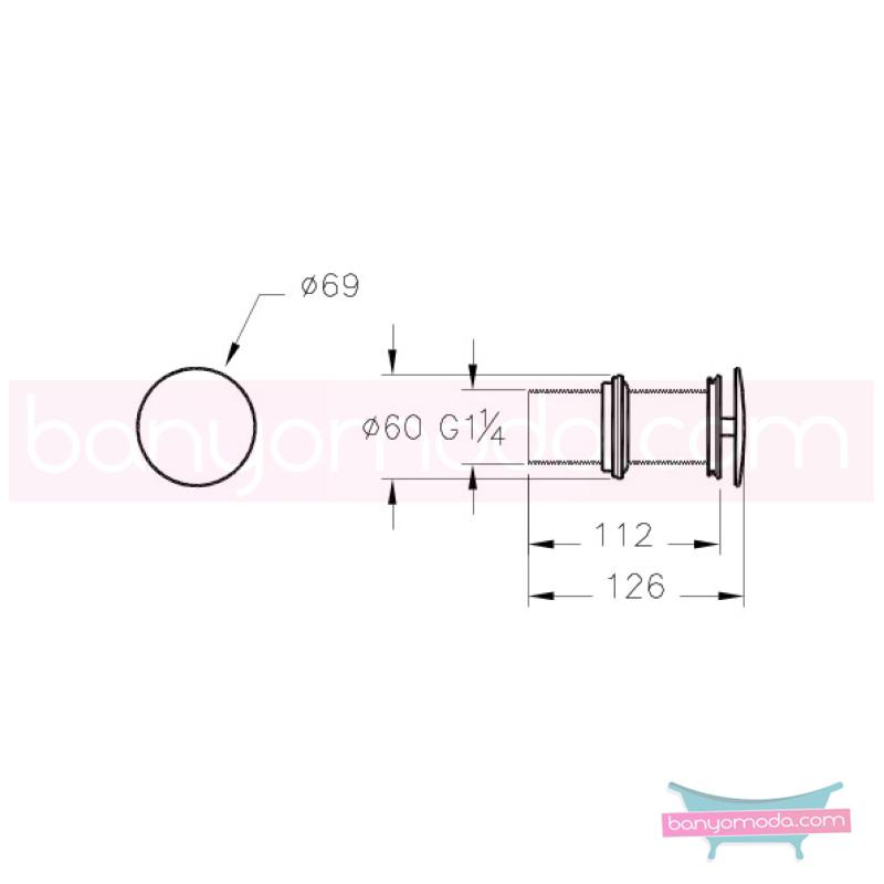 Artema Lavabo Yuvarlak Süzgeci (Sabit - Uzun tip) - A45141 armatür ve batarya tamamlayıcı üründür