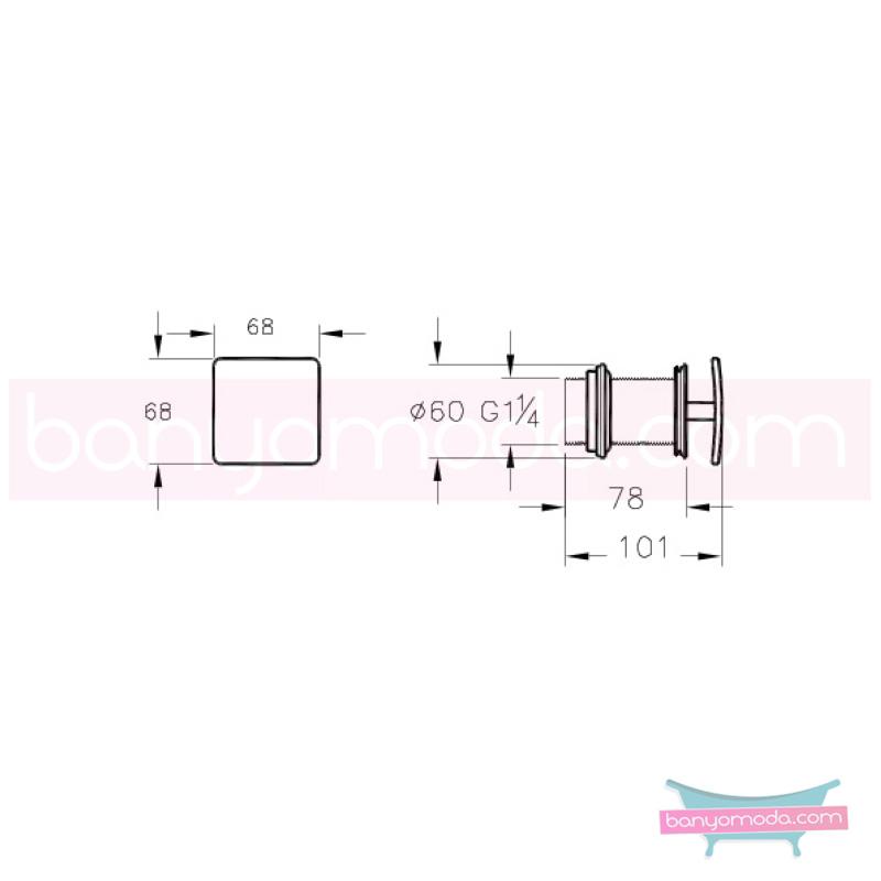Artema Lavabo Kare Süzgeci (Sabit) - A45143 armatür ve batarya tamamlayıcı üründür