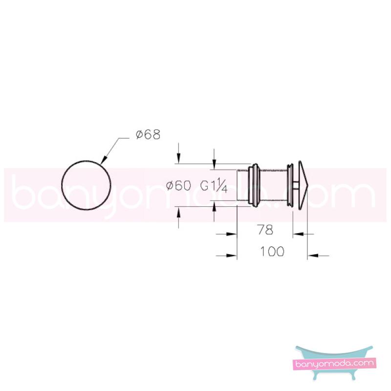 Artema Mod Lavabo Süzgeci (Sabit) - A45145 modern tasarımı zarafetle bütünleyen Ross Lovegrove un çok özel koleksiyonudan