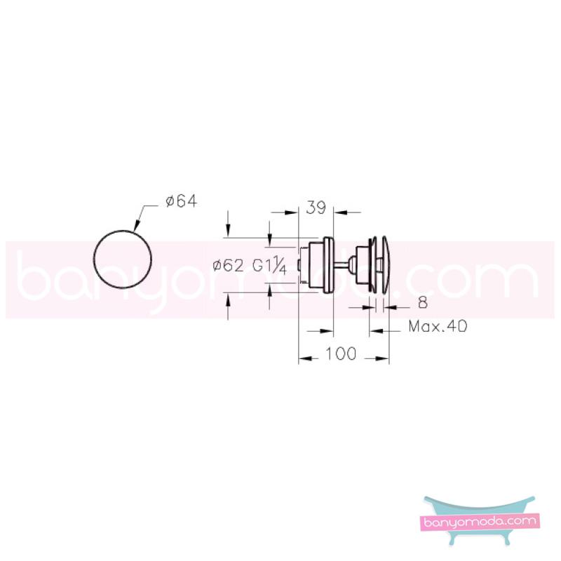 Artema Lavabo Yuvarlak Süzgeci (Universal-Sabit), Bakır - A4514826 armatür ve batarya tamamlayıcı üründür