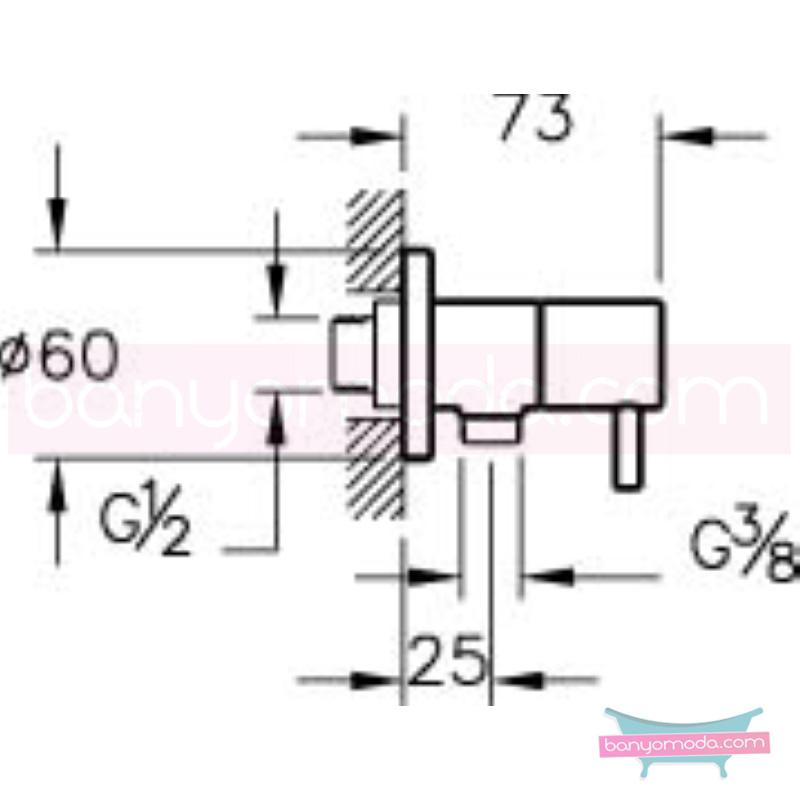 Artema İlia Ara Musluk - A45214 180 derece açma kapama özelliklerinin yanı sıra sadelik ve estediği yansıtan armatür