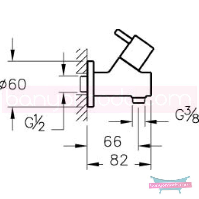 Artema İlia Filtreli Ara Musluk - A45225 180 derece açma kapama özelliklerinin yanı sıra sadelik ve estediği yansıtan armatür
