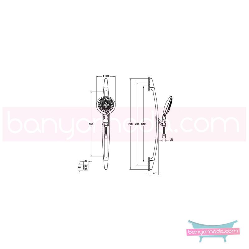 Artema Samba 5F Sürgülü El Duşu Takımı - A45482 5 Fonksiyonlu su tasarrufu kireç kırıcılı  tarafından tasarlanan sade ve ince görüntsünüyle banyonuza değer katan sürgülü duş takımı