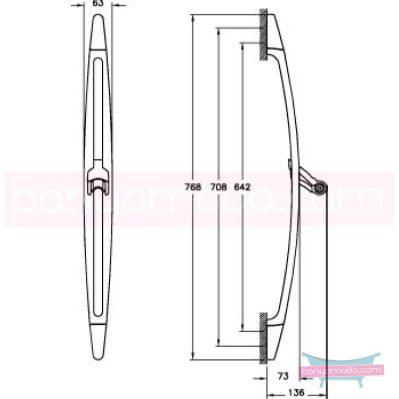 Artema Samba Sürgü Takımı - A45489   tarafından tasarlanan sade ve ince görüntsünüyle banyonuza değer katan sürgü takımı