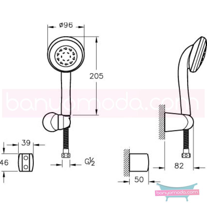 Artema Twist 6F El Duşu Takımı - A45504 6 Fonksiyonlu kireç kırıcılı  tarafından tasarlanan özelliklerinin yanı sıra sadelik ve estediği yansıtan el duş takımı