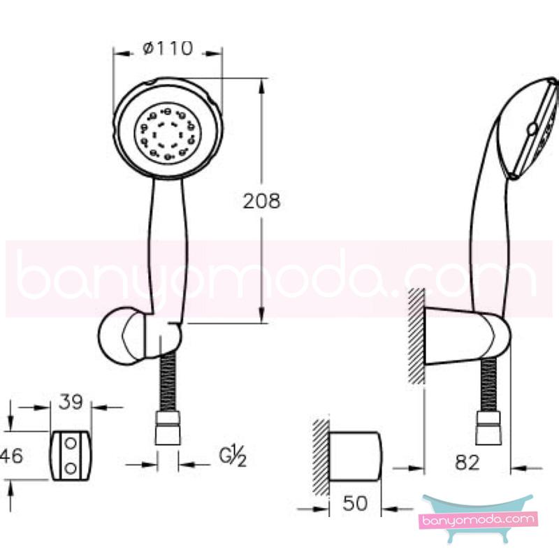 Artema Harmony 5F El Duşu Takımı - A45505 5 Fonksiyonlu su tasarrufu kireç kırıcılı  tarafından tasarlanan özelliklerinin yanı sıra sadelik ve estediği yansıtan el duş takımı