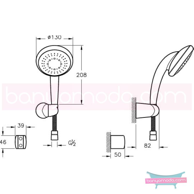 Artema Therapy 5F El Duşu Takımı - A45506 5 Fonksiyonlu su tasarrufu kireç kırıcılı  tarafından tasarlanan özelliklerinin yanı sıra sadelik ve estediği yansıtan el duş takımı