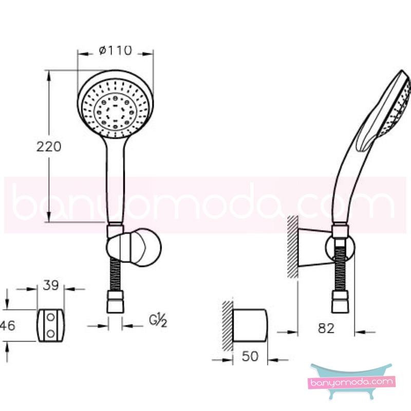Artema Cozy 5F El Duşu Takımı - A45507 5 Fonksiyonlu su tasarrufu kireç kırıcılı  tarafından tasarlanan özelliklerinin yanı sıra sadelik ve estediği yansıtan el duş takımı