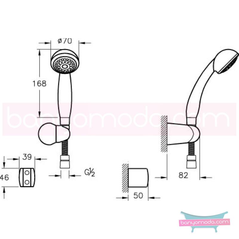Artema Solo C El Duşu Takımı - A45509 Tek Fonksiyonlu su tasarrufu kireç kırıcılı  tarafından tasarlanan özelliklerinin yanı sıra sadelik ve estediği yansıtan el duş takımı