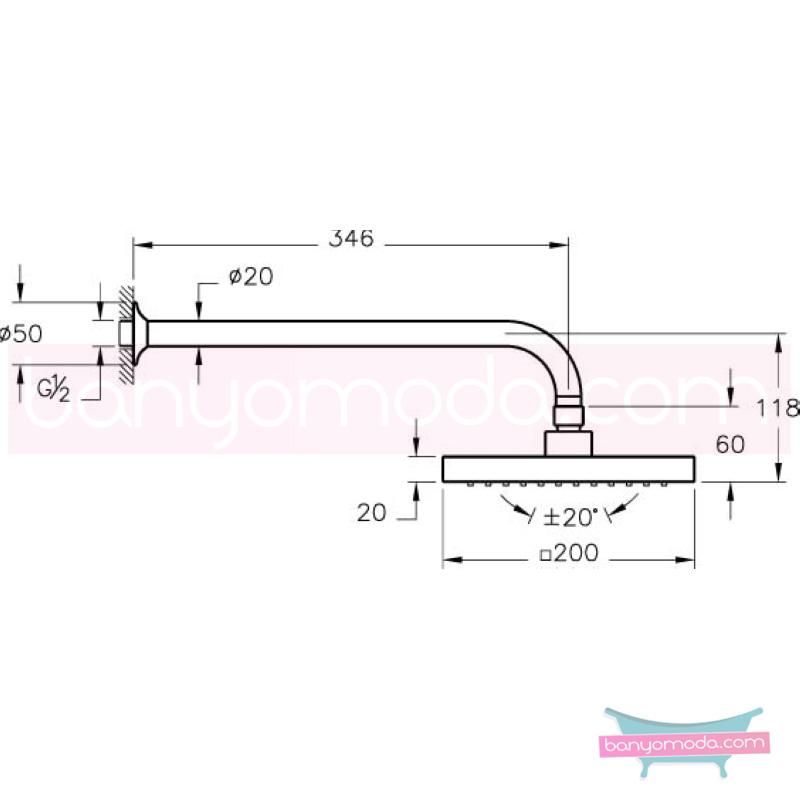 Artema Rain Q Duş Başlığı (Duvardan) - A45521 Tek Fonksiyonlu:Aquarain su tasarrufu kireç kırıcılı mafsallı  tarafından tasarlanan özelliklerinin yanı sıra yalın ve kusursuz tasarımıyla banyonuz estetik görünüme kavuşur