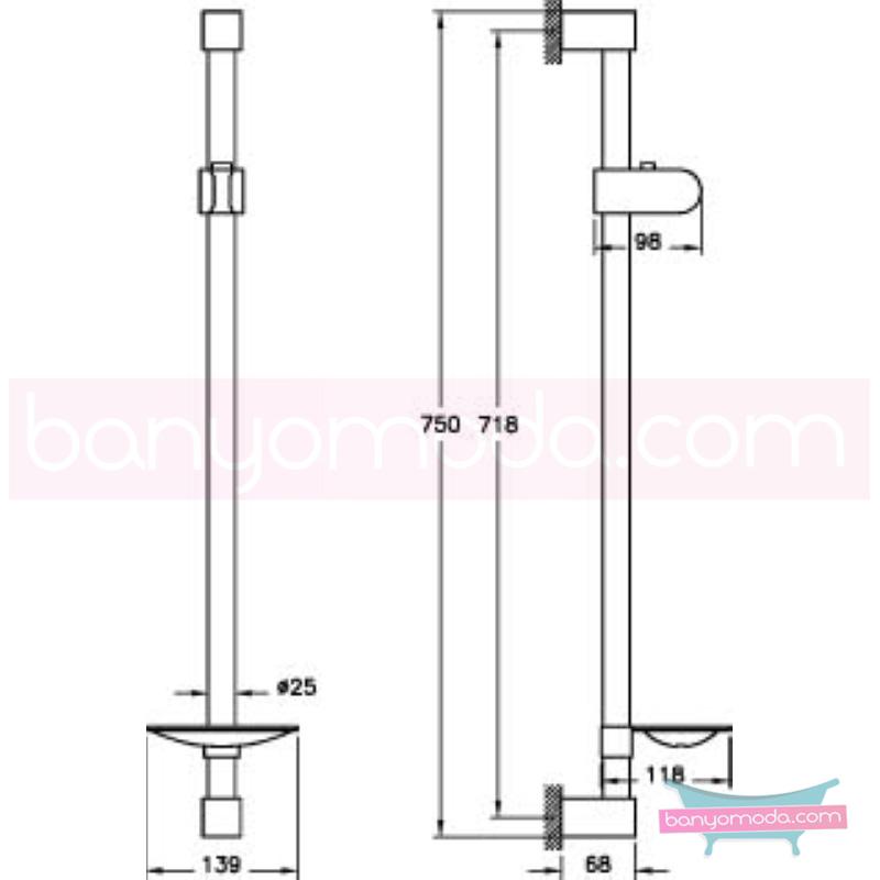 Artema Slim Sürgü Takımı - A45530   tarafından tasarlanan sade ve ince görüntsünüyle banyonuza değer katan sürgü takımı