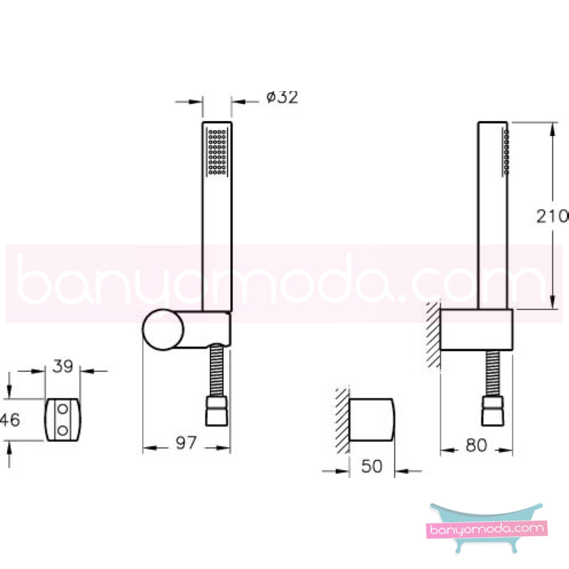 Artema Sense El Duşu Takımı - A45545 Tek Fonksiyonlu  su tasarrufu kireç kırıcılı  tarafından tasarlanan özelliklerinin yanı sıra sadelik ve estediği yansıtan el duş takımı