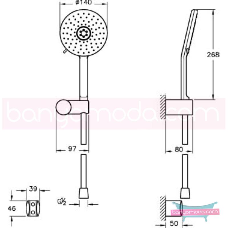 Artema T4 2F El Duşu Takımı - A45549 2 Fonksiyonlu su tasarrufu kireç kırıcılı Indeed tarafından tasarlanan özelliklerinin yanı sıra sadelik ve estediği yansıtan el duş takımı
