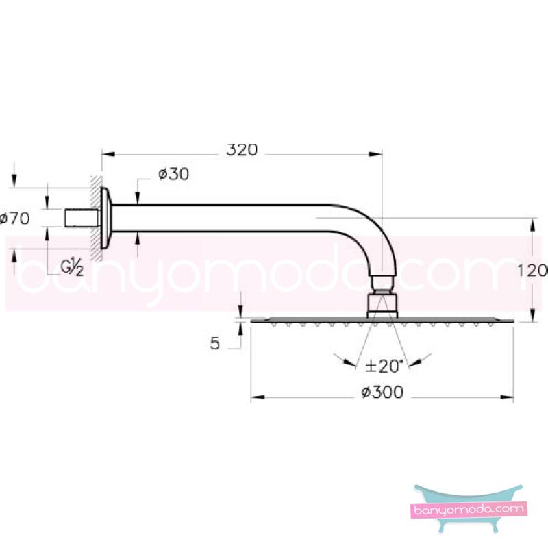 Artema Lite LC Duş Başlığı (Duvardan) - A45554 Tek fonksiyonlu Aquarain su tasarrufu kireç kırıcılı mafsallı  tarafından tasarlanan özelliklerinin yanı sıra yalın ve kusursuz tasarımıyla banyonuz estetik görünüme kavuşur