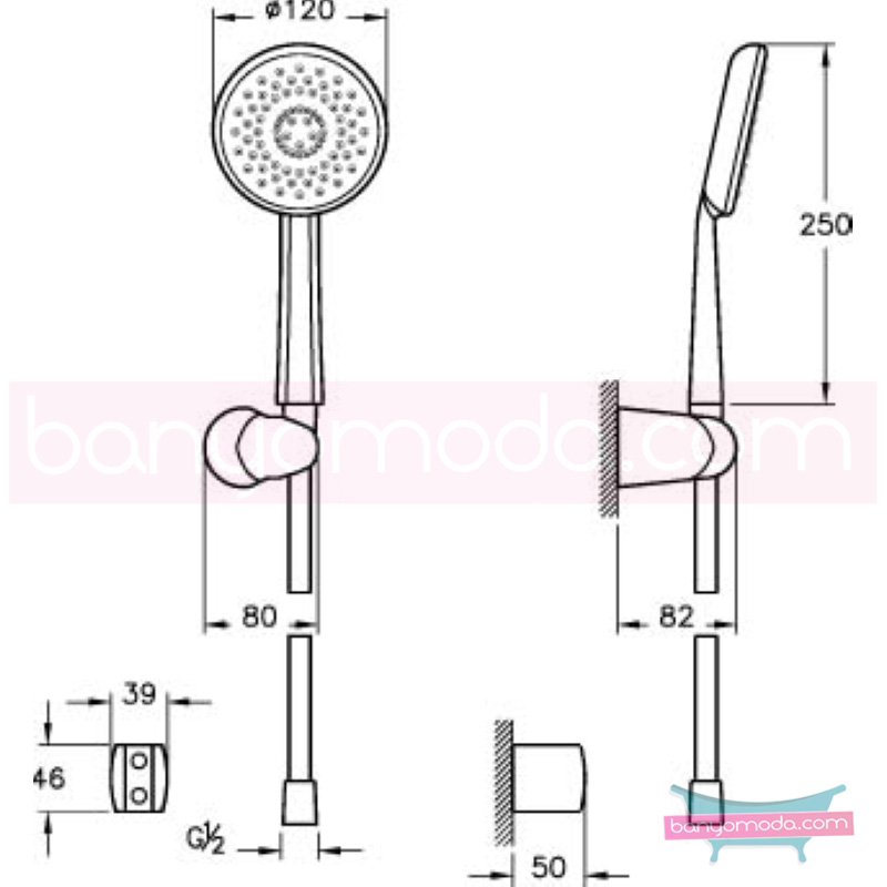 Artema Style X 3F El Duşu Takımı - A45609 3 Fonksiyonlu su tasarrufu kireç kırıcılı  tarafından tasarlanan özelliklerinin yanı sıra sadelik ve estediği yansıtan el duş takımı