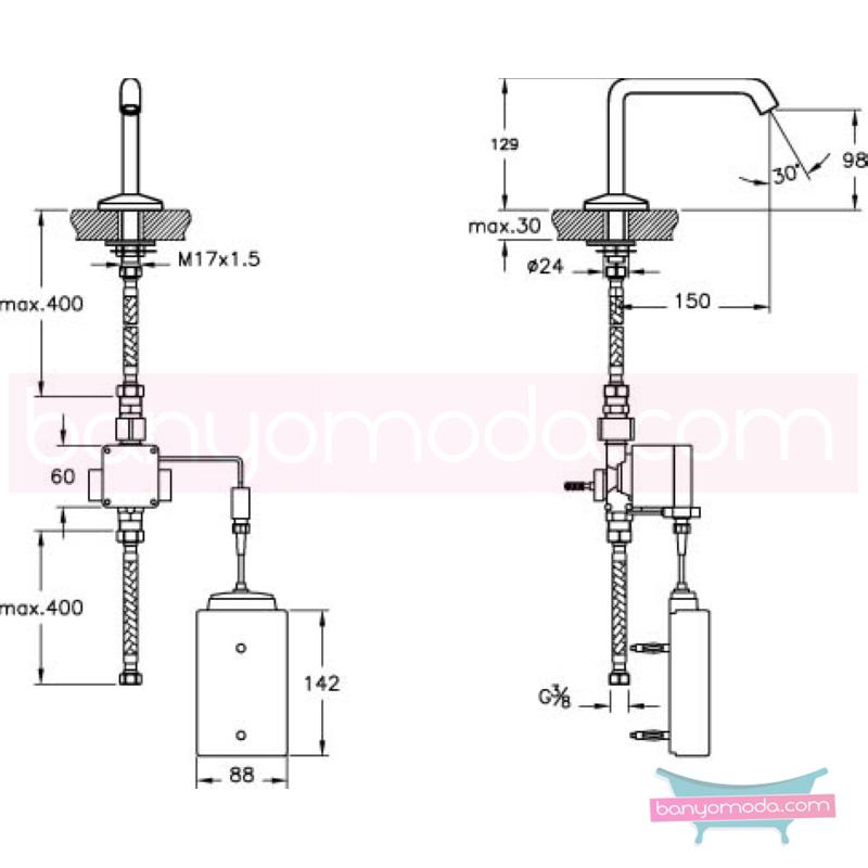 Artema Mod SST Elektronik Lavabo Bataryası - A47029