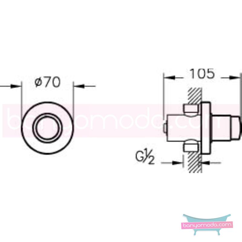 Artema AquaTouch Ankastre Zaman Ayarlı Basmalı Duş Bataryası - A47040 yalın silindirik formu ve led ışığıyla banyonuza görsellik katarken tasarruf etmenizi sağlayan armatür