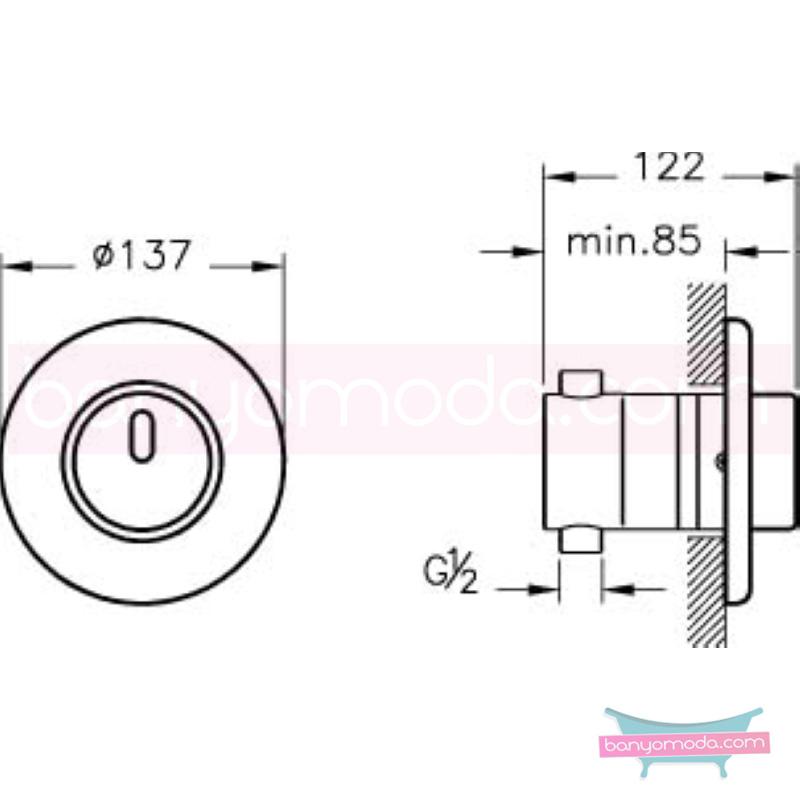 Artema Ankastre Fotoselli Duş Bataryası (Pilli) - A47041 el değmeden su akışı sağlayan hijyenin önem kazandığı teknolojik armatür