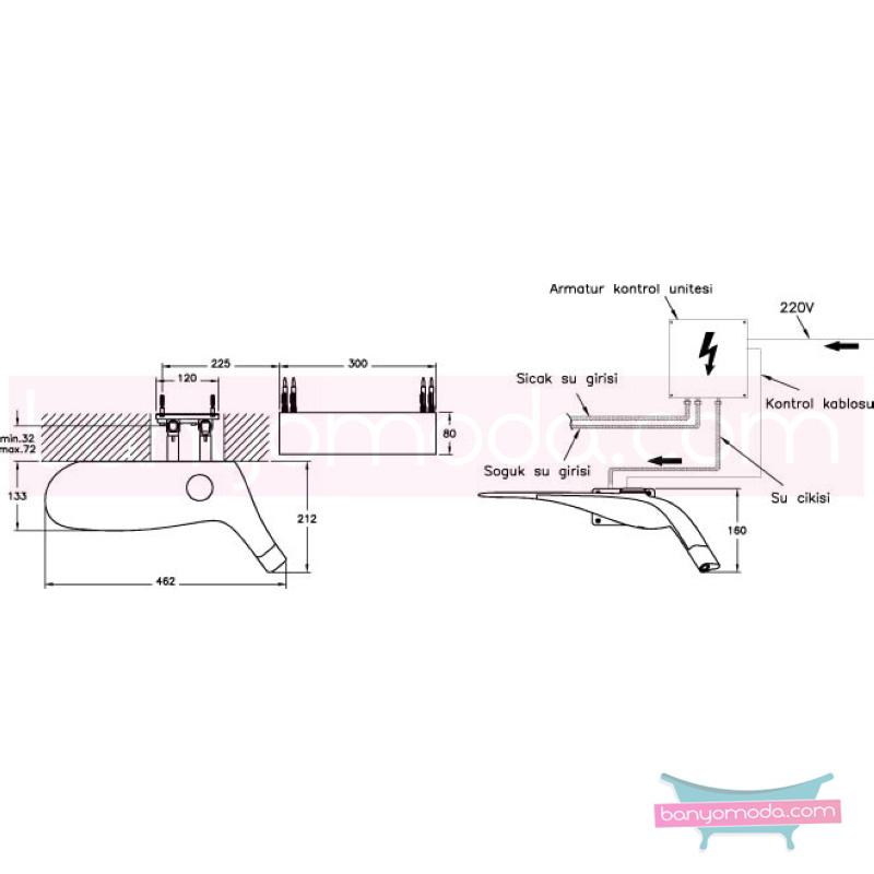 Artema Freedom Ankastre Lavabo Bataryası - A4705299 su ve enerji tasarruflu maksimum işlevsellik sunan asimetrik canlı inanılmaz Ross Lovegrove tasarımlı özel Freedom koleksiyonudan