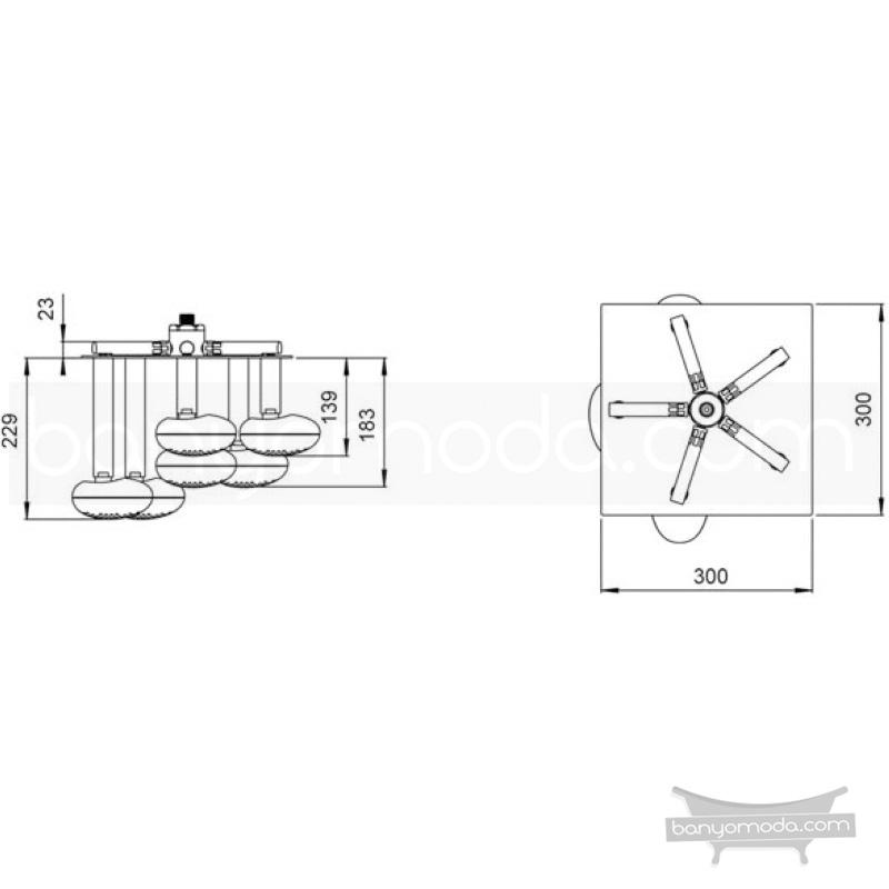 Artema İstanbul Duş Başlığı (Tavandan), Beyaz - A4802399 Tek fonksiyonlu:Aquarain. su tasarrufu kireç kırıcılı Ross Lovegrove tarafından tasarlanan yağmurda yürüyomuş etkisi yaratan rahatlamanızı sağlayan tavandan duş başlığı