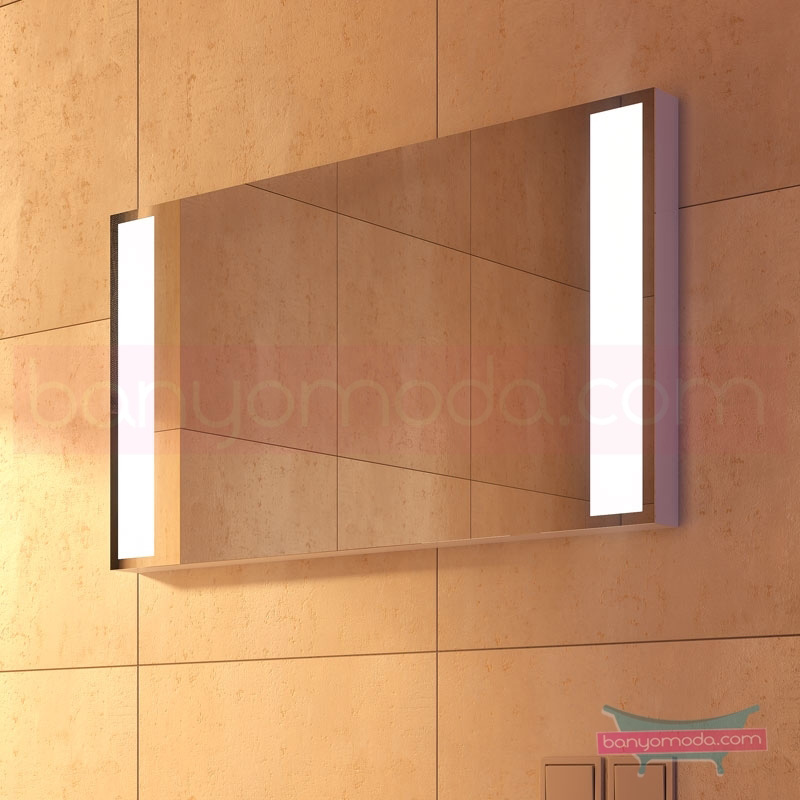 Vitra Options Lux Aydınlatmalı Ayna, 120 cm 52243 Ayna / Dolaplı Ayna