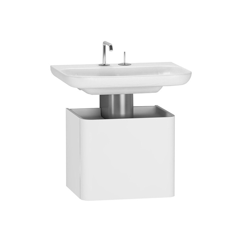 Vitra Mod Lavabo Dolabı, 45 cm, Parlak Beyaz (Lavabo Dahil) 52388 Lavabo Dolabı