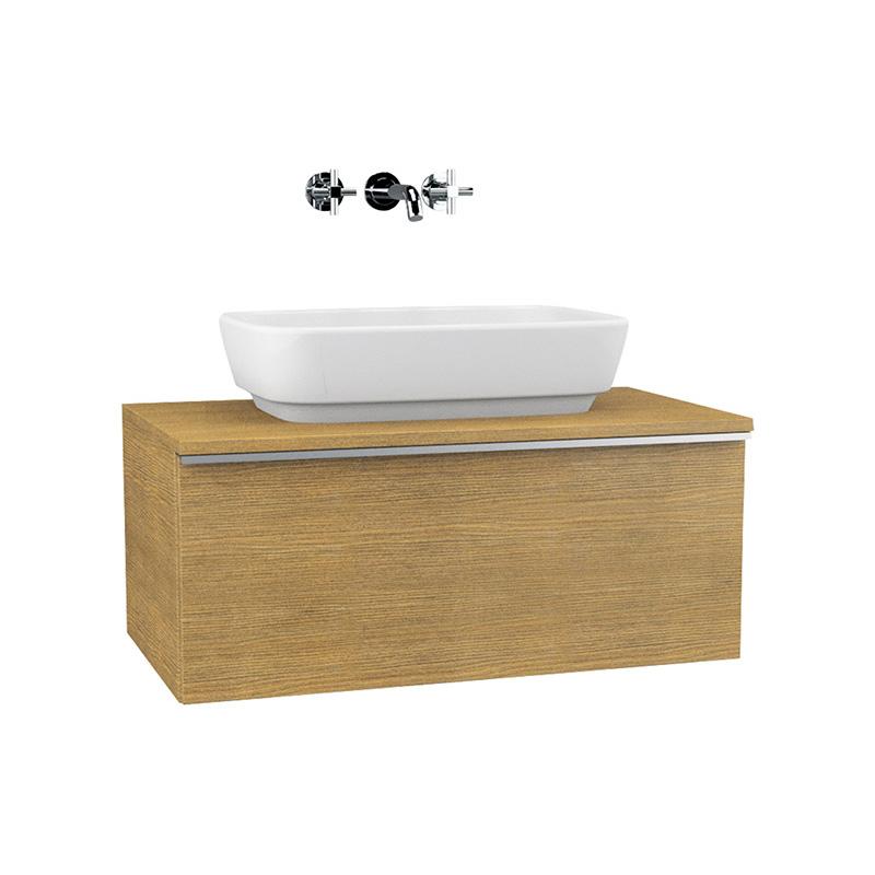 Vitra Shift Geniş Lavabo Dolabı (Derin), 60 cm, Beyaz 52593 Lavabo Dolabı