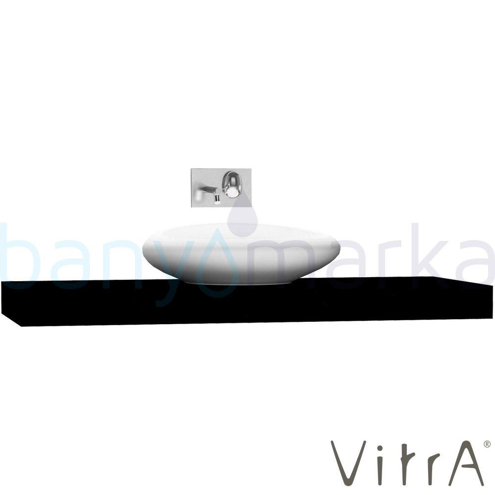 Vitra Options Lux Tezgah, 140 cm, Parlak Siyah 53103 Lavabo Dolabı