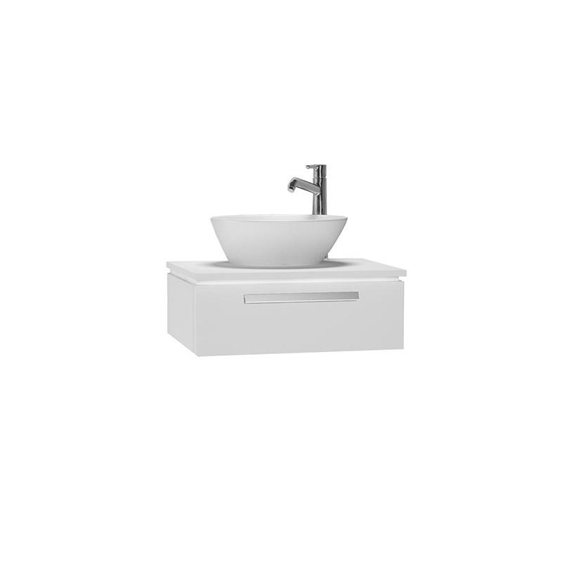 Vitra System Fit Dar Lavabo Dolabı (Sığ), 60 cm, Parlak Beyaz, Bar Kulp 53222 Lavabo Dolabı
