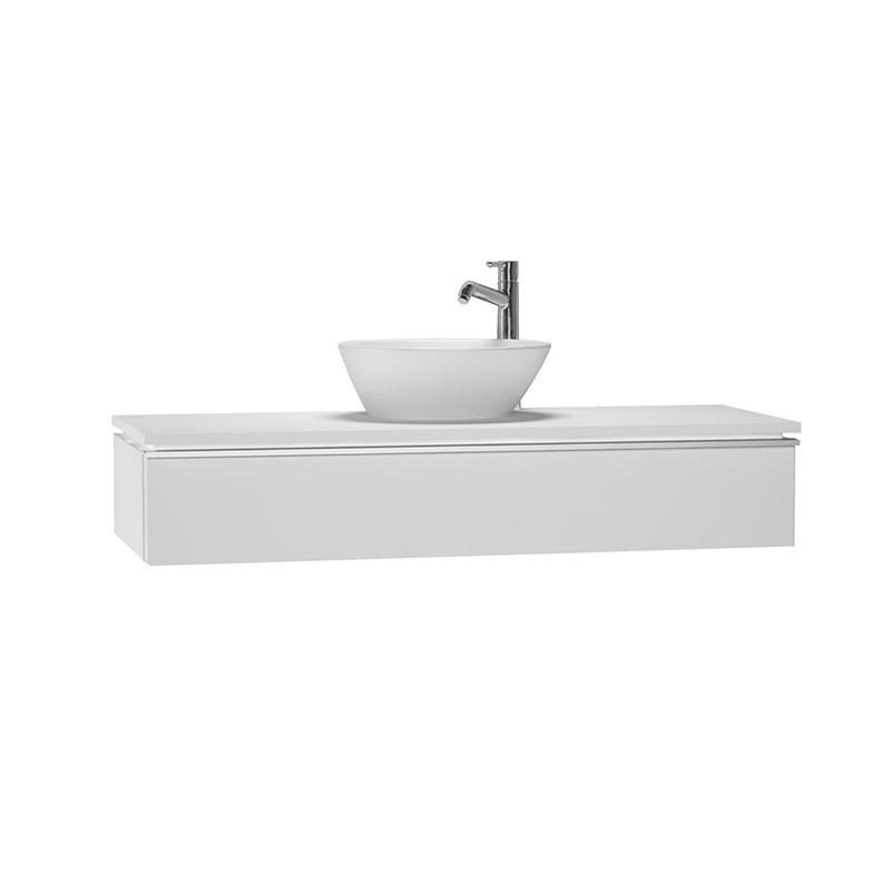 Vitra System Fit Dar Lavabo Dolabı (Sığ), 120 cm, Parlak Beyaz, Shift Kulp 53258 Lavabo Dolabı