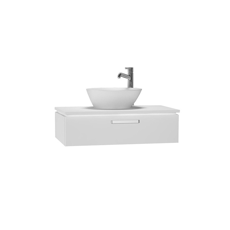 Vitra System Fit Lavabo Dolabı (Sığ), 80 cm, Parlak Beyaz, Yuvarlak Hatlı Kulp 53346 Lavabo Dolabı