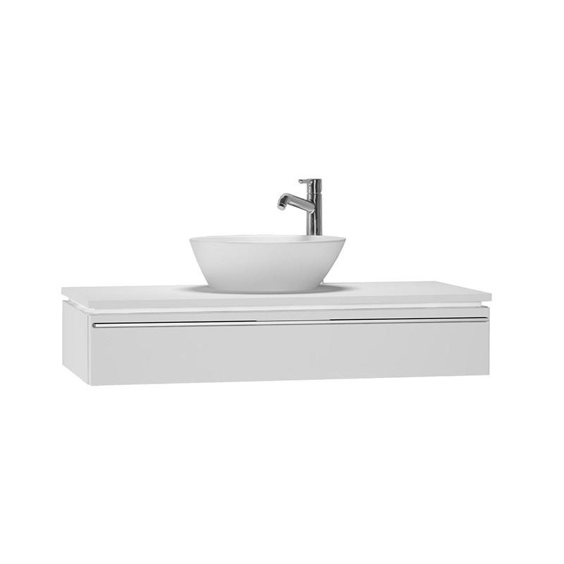 Vitra System Fit Lavabo Dolabı (Sığ), 100 cm, Parlak Beyaz, Bel Kulp 53358 Lavabo Dolabı