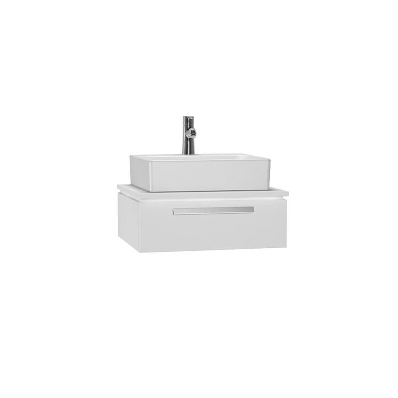 Vitra System Fit Geniş Lavabo Dolabı (Sığ), 60 cm, Parlak Beyaz, Bar Kulp 53445 Lavabo Dolabı