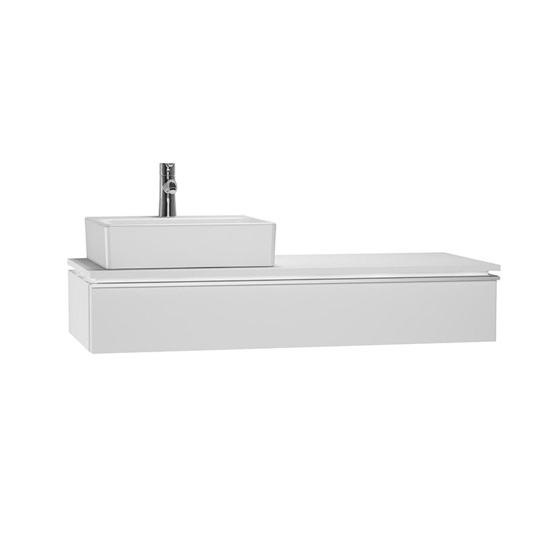 Vitra System Fit Geniş Lavabo Dolabı (Sığ), (Sol), 120 cm, Parlak Beyaz, Shift Kulp 53497 Lavabo Dolabı